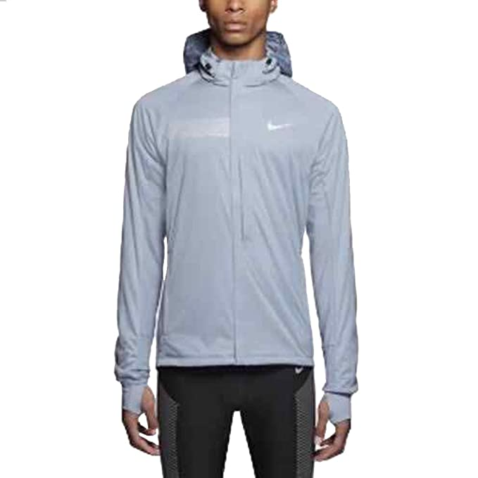 99dc627f0d8a Nike Shield Max Men s Running Jacket 619433-075 Large Size Grey  Amazon.ca   Clothing   Accessories