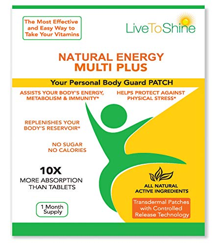 Natural Energy Multi Plus Patch - USA Made - Vegan - 30 ()