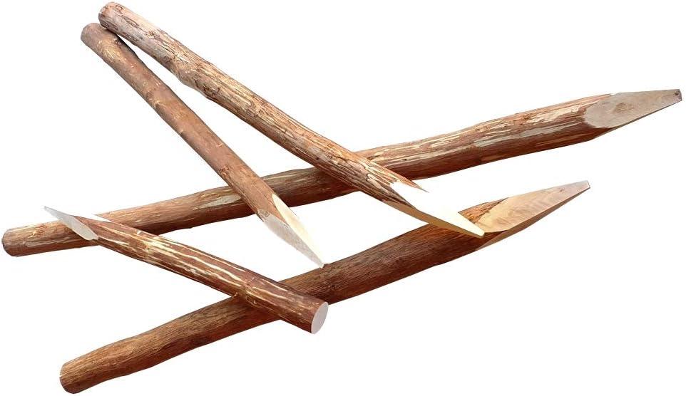 Zaunpfahl Staketenzaun Zaunpfosten Holzpfosten Haselnuss Kastanienzaun H 120 V39