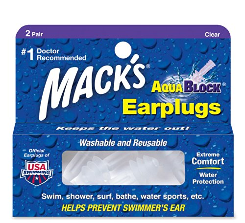 Mack's AquaBlock Earplugs - Clear - (2 -