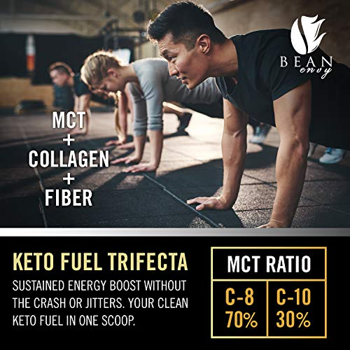 MCT Oil Powder + Collagen + Prebiotic Acacia Fiber - 100% Pure MCT's - Perfect for Keto - Energy Boost - Nutrient Absorption - Healthy Gut Support - Vanilla by Bean Envy (Image #6)