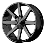 rims for 2015 chevy silverado - KMC Wheels KM651 Slide Gloss Black Wheel With Clearcoat (20x8.5/6x135, 139.7mm, 38mm offset)