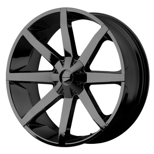 "KMC Wheels KM651 Slide Gloss Black Wheel With Clearcoat (22x9.5""/6x135, 139.7mm, +38mm offset)"