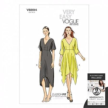Vogue Sewing Pattern 8894 Ladies Very Easy Vogue Custom Fit Dress ...