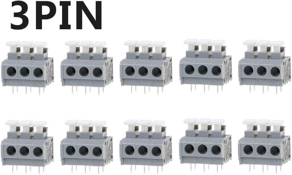 YoungerY 10 Piezas Conector de Terminal r/ápido de Tornillo Libre de PCB KF235 5.0 mm - 2PIN