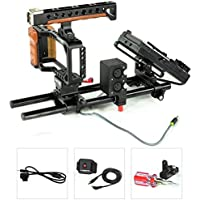 CAMTREE Blackmagic Camera Cage w Top Handle Battery Plate fr BMPCC 15mm Rail Rod