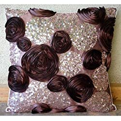 Silk Pillows for Couch With Sequins