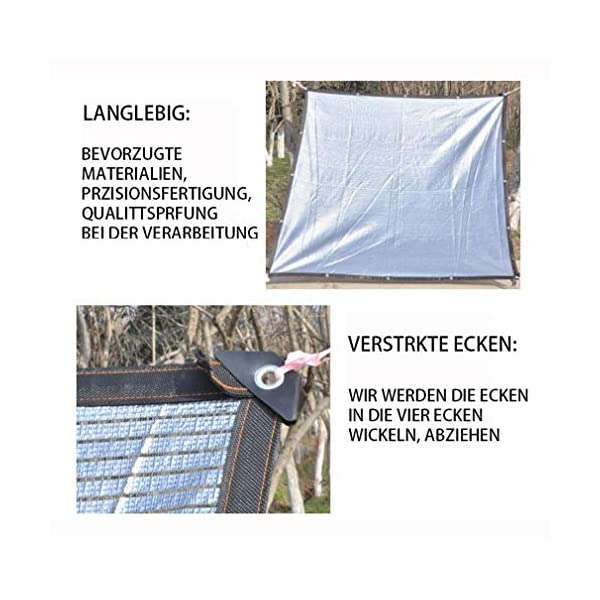 VN Ombra Bianca Parasole Panno Parasole Rete di Alluminio Foglio pianta grassa Riflettente Gazebo Protezione Solare… 2 spesavip