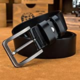 LUCIANO Upscale Genuine Leather Italy Cowhide Black & Brown Belt Men's Dress Belts B-41