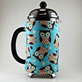 owl coffee cup cozy - French Press Cozy 8 cup Owls