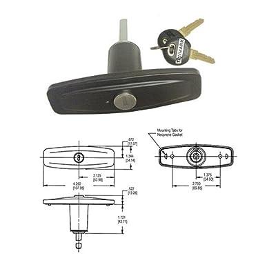 TriMark Clockwise Pop-Up Locking T-Handle (TM13946-01BLKRK): Automotive