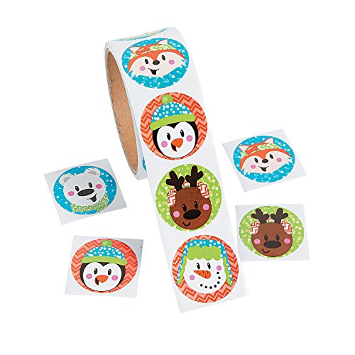 Christmas Holiday Characters Stickers - 1 Roll