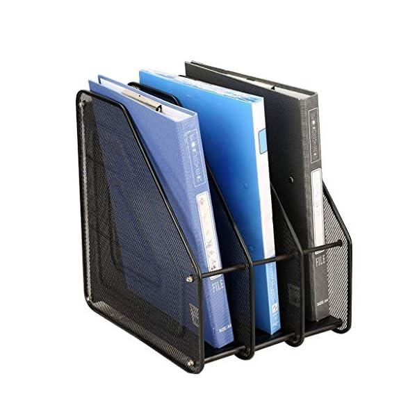 Retail Paratpar 3 Layer Metal Mesh File Rack Desktop Document, News Paper, Letter, Trays Storage Frame Office Desktop Supplies 1
