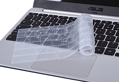 CaseBuy-ASUS-ChromeBook-116-Inch-Ultra-Thin-Silicone-Keyboard-Protector-Cover-for-ASUS-C200-C200MA-C201-C201PA-C202SA-ChromeBook-116-Laptop-US-Version-Clear
