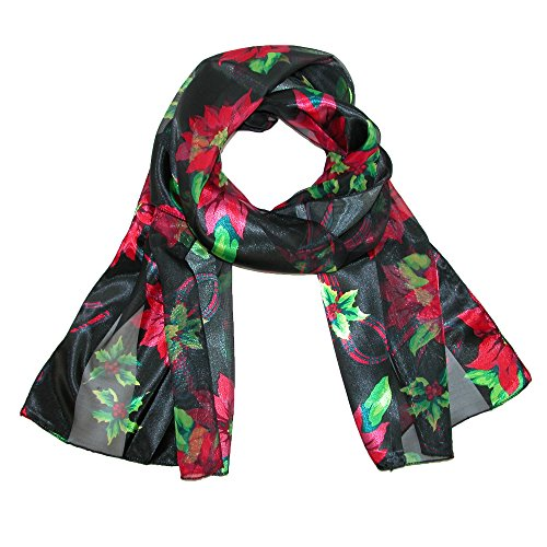Women's Christmas Poinsettia Holiday Scarf