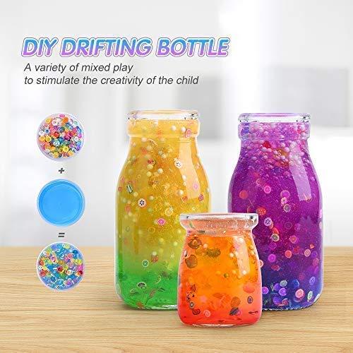 MOOHAM DIY Slime Kit Supplies - Clear Crystal Slime Making Kit for Girls, Floam Slime for Kids, Slime Foam Beads, Glitter , Fruit Slices and Fishbowl Beads Included by M MOOHAM (Image #3)