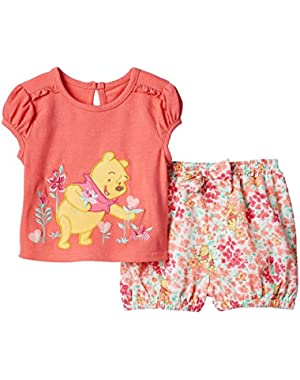 Cartoon Characters Baby-Girl Short Set
