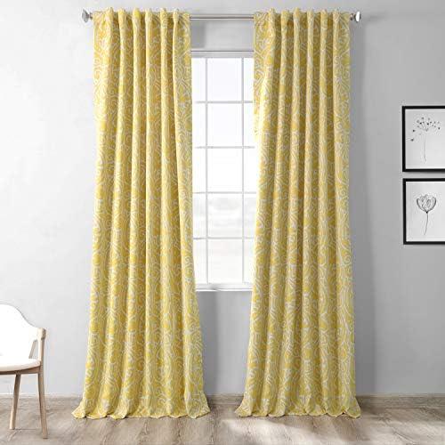 HPD Half Price Drapes BOCH-KC16075-120 Blackout Room Darkening Curtain 1 Panel
