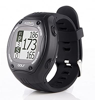 POSMA GT1Plus Golf Trainer GPS Golf Watch Range Finder, Preloaded Europe, America, Asia Golf Courses no Subscription, Black, Courses incl. US, Canada, Europe, Asia, Australia, New Zealand etc.