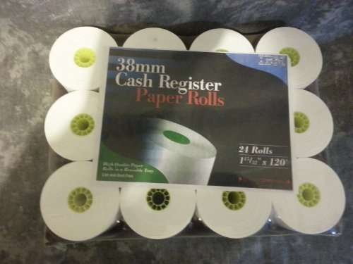 IBM 38 MM Cash Register Rolls - Thermal Ibm