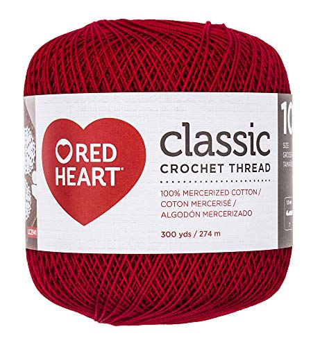 Coats Crochet Classic Crochet Thread, 10, Victory Red ()