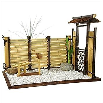 Muebles Oriental Zen bambú Mini jardín: Amazon.es: Hogar