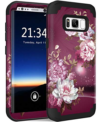(Galaxy S8 SM-G950 Case, Hocase Heavy Duty Protection Shock Absorbing Silicone Rubber Bumper+Hard Plastic Shell Hybrid Dual Layer Protective Case for Samsung Galaxy S8 5.8