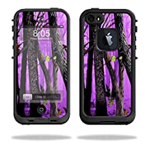 Mightyskins Protective Vinyl Skin Decal Cover for LifeProof iPhone 5/5s/SE Case fre Case wrap sticker skins Purple Tree Camo