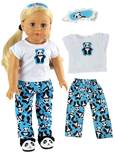 - Panda Bear Pajamas American Girl Dolls, T-shirt, Pj Bottoms, Eye Mask Are Included, Beautiful Fabrics With A Soft VelcroDOLL AND SLIPPERS NOT INCLUDED ()