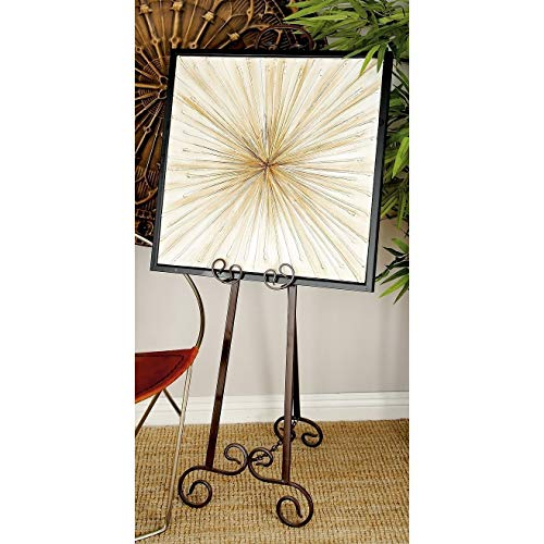 (51 Inch Decorative Iron Easel Elegant Adjustable Metal Tripod Artwork Display Stand Canvas Picture Frame Holder Painting Drawing Art Mount, 51in)