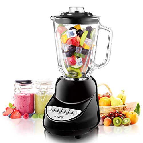Aicok Smoothie Blender, Ice Crush Blender, Household Blender, 6-Cup