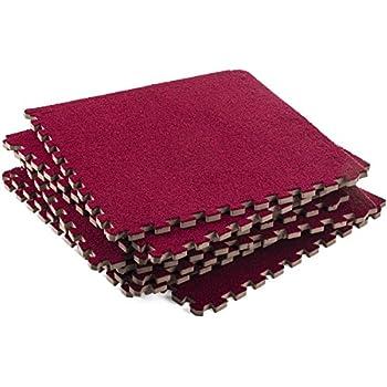 Soft Interlocking Foam Mats U2013 Fluffy Carpet Rug   Interlocking Carpet Tiles  U2013 Puzzle Floor Mat
