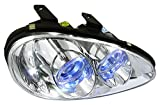 Spec-D Tuning 2LHP-MX392-APC Mazda Mx3 Chrome Clear Halo Projector Headlights