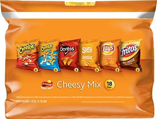Frito-Lay Cheesy Mix Variety Pack, 18 Count