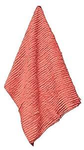 "Janey Lynn Shaggies King Salmon Color Towel 100% Chenille Cotton 28"" x 19"""