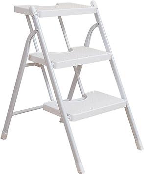 PENGFEI Escalera Plegable Taburete Multifunción Familia Sube La Escalera Cocina 2/3 Pasos Metal 2 Colores 2 Tamaño (Color : White 3 Steps): Amazon.es: Electrónica