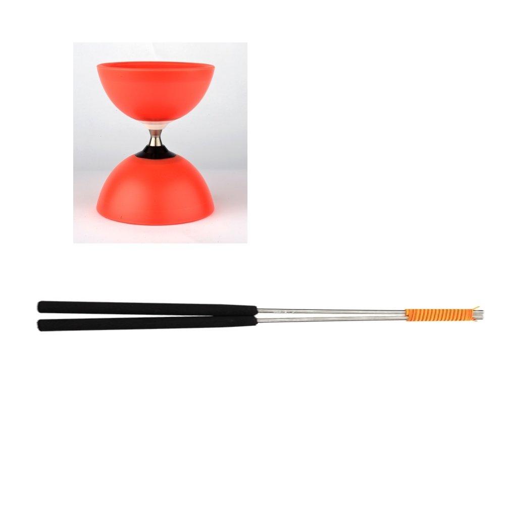 Henrys j04052 – 03 – yo yo, Diabolo Vision Free Set, incluso mano barre, Rosso