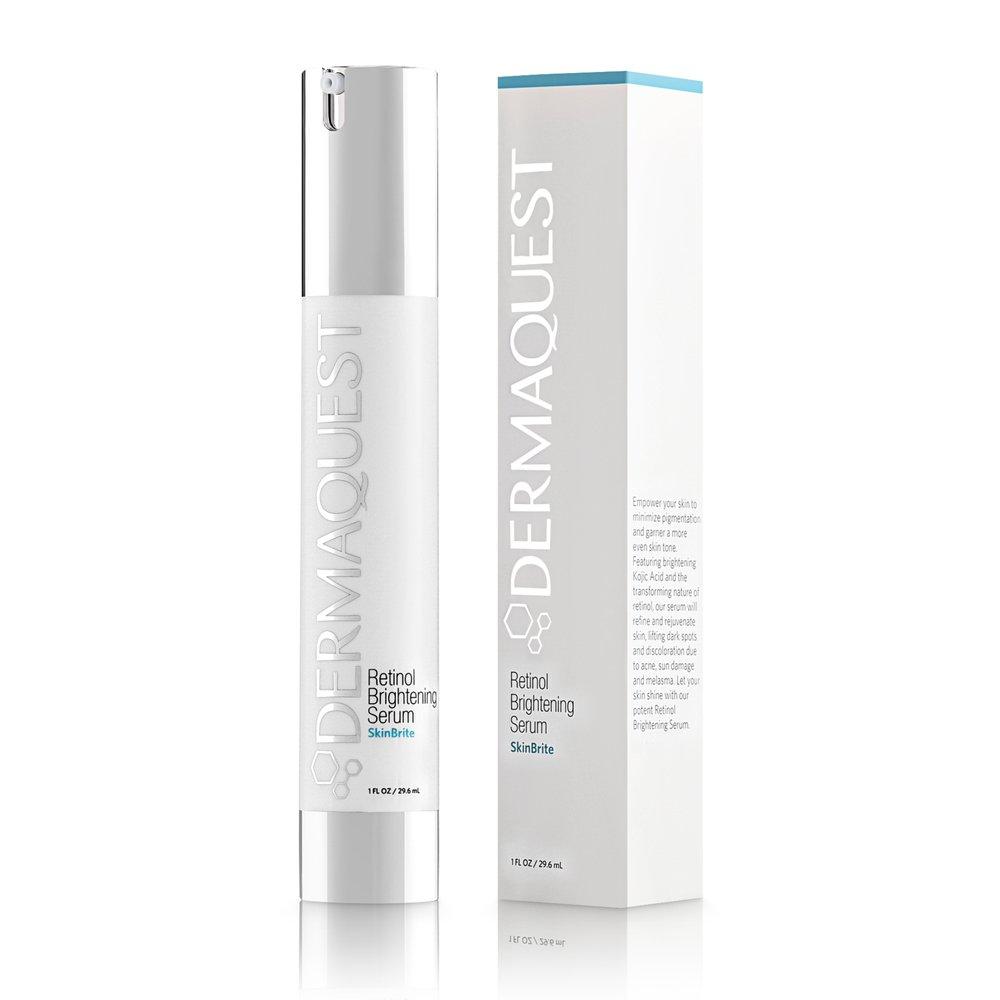 DermaQuest SkinBrite Retinol Skin Brightening Night Serum - Treatment for Dark Spots, Pigmentation, Sun Damaged Skin & Melasma, 1 fl. oz.