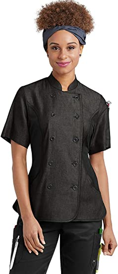 XS-3X, 4 Colors Women/'s Chef Coat with Mesh Side Panels