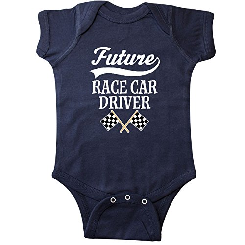 inktastic - Future Race Car Driver Infant Creeper 12 Months Navy Blue 2bf79