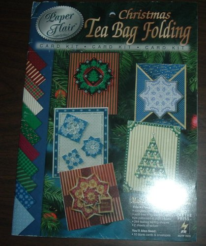 Tea Bag Folding Cards - Paper Flair Christmas Tea Bag Folding Card Kit