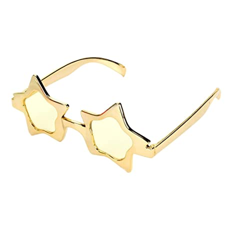 eeea3801de Prettyia Glitter Gold Five-point Star Sunglasses Novelty Party Eye Glasses  Costume  Amazon.co.uk  Kitchen   Home