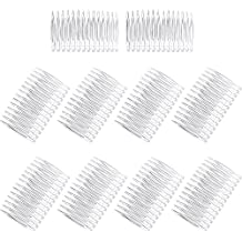 Pangda 10 Pieces Hair Clip Combs 14 Teeth Plastic Bridal Wedding Veil Combs, Clear