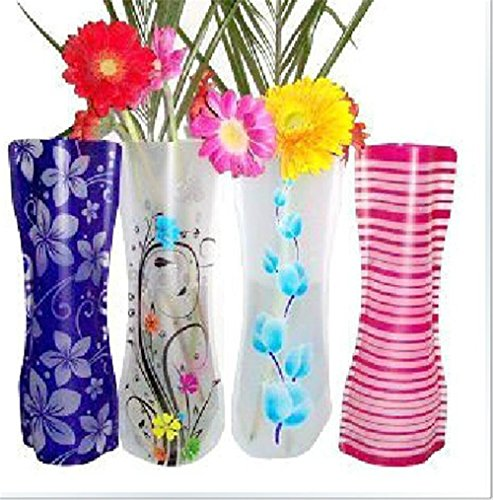 Eco-friendly Reusable Foldable Folding Flower PVC Durable Vase Home DecorationWedding Party Easy to Store (Set of (Eco Friendly Vases)