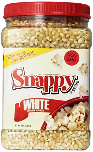 Snappy White Popcorn, 4 Pounds (Best White Popcorn Kernels)