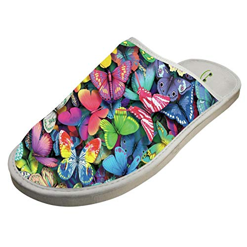 Effect Adult Cotton Butterfly Crocs Warm Slippers Lover House Colors Unisex Keep White House dqrrZvt