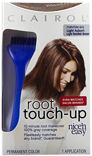 Clairol Nice N Easy Root Touch-Up, Hair Color, Light Auburn #6R - - Nice N Clairol Brush Easy