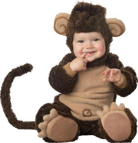 InCharacter Costumes Baby's Lil' Monkey Costume, Brown, X-Small -