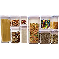 Scotty's (TM) Airtight Food Storage Container Set - Keeps food fresh and organized (1, 10 Piece Set)