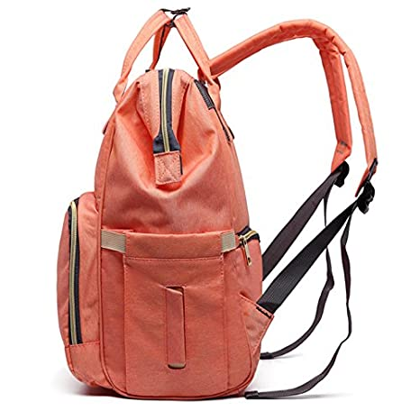 Amazon.com : Lequeen Maternity backpack diaper bag with stroller strap, Waterproof, Brand Large Capacity Baby Bag Travel Backpack Designer Nursing Bag for ...